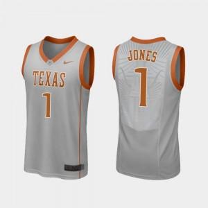 Replica College Basketball Andrew Jones Longhorns Jersey Men #1 Gray