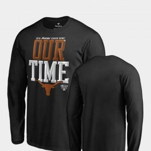 Counter Long Sleeve Fanatics Branded 2019 Sugar Bowl Bound Black University of Texas T-Shirt For Men