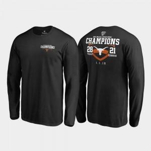 Men's Fair Catch Score Long Sleeve Fanatics Branded Black UT T-Shirt 2019 Sugar Bowl Champions