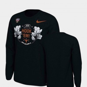 Verbiage Long Sleeve Nike 2019 Sugar Bowl Bound Black University of Texas T-Shirt Mens