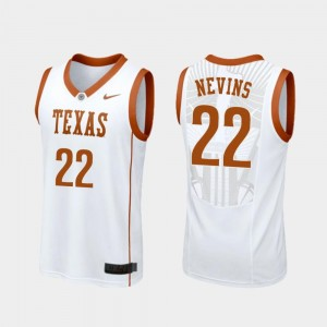 #22 For Men Replica College Basketball White Blake Nevins Longhorns Jersey