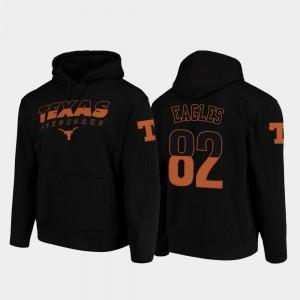 College Football Pullover Brennan Eagles Texas Longhorns Hoodie Wedge Performance Black For Men #82