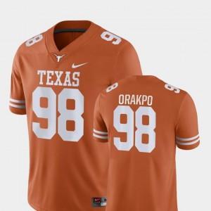 College Football Nike Men Brian Orakpo UT Jersey Orange Game #98