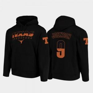Collin Johnson UT Hoodie #9 For Men's Black Wedge Performance College Football Pullover