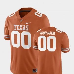 UT Customized Jerseys Texas Orange 2018 Game Nike #00 College Football Men's