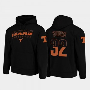 College Football Pullover Wedge Performance #32 Daniel Young UT Hoodie Black For Men's