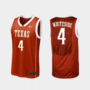 Replica Mens Burnt Orange #4 Drayton Whiteside University of Texas Jersey College Basketball