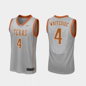 #4 Gray Drayton Whiteside Longhorns Jersey Replica College Basketball Mens