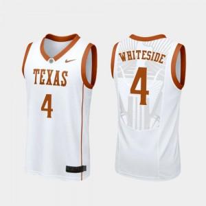College Basketball #4 Drayton Whiteside Texas Longhorns Jersey White Men's Replica