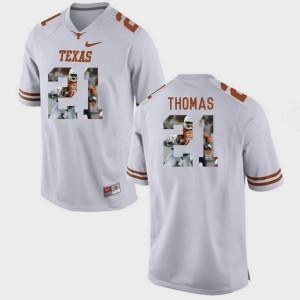 White Duke Thomas Texas Longhorns Jersey Mens Pictorial Fashion #21
