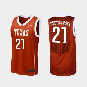 Replica Dylan Osetkowski UT Jersey Mens College Basketball #21 Burnt Orange