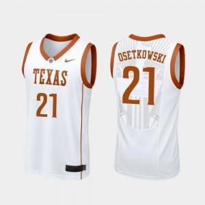 White College Basketball Replica Men's #21 Dylan Osetkowski University of Texas Jersey