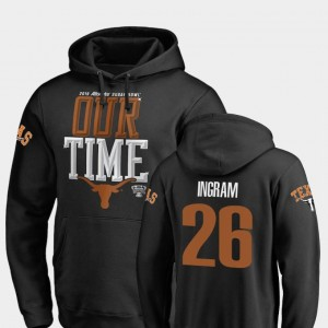 Keaontay Ingram Texas Longhorns Hoodie Fanatics Branded Counter #26 Mens 2019 Sugar Bowl Bound Black