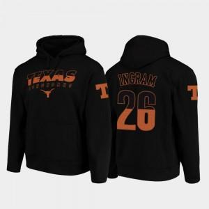 Keaontay Ingram Longhorns Hoodie Black College Football Pullover #26 Wedge Performance For Men's