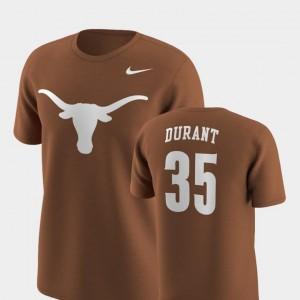 Future Stars #35 Nike Replica Texas Orange Men's Kevin Durant Longhorns T-Shirt