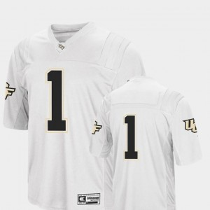 #1 College Football White Men's Colosseum Authentic University of Central Florida Jersey