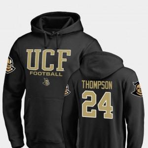 Men's True Sport Black #24 Fanatics Branded Football Bentavious Thompson UCF Knights Hoodie