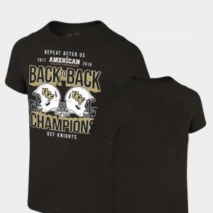 2018 AAC Football Champions Black Knights T-Shirt Locker Room Original Retro Brand Men's