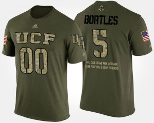 For Men #5 Blake Bortles UCF T-Shirt Military Short Sleeve With Message Camo