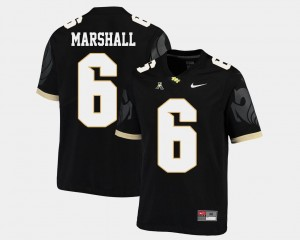 Black #6 American Athletic Conference College Football Mens Brandon Marshall Knights Jersey