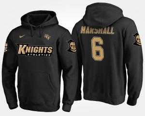 Brandon Marshall UCF Knights Hoodie Black Men's Name and Number #6