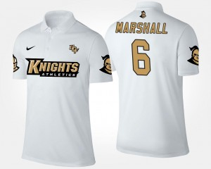 Brandon Marshall UCF Knights Polo Name and Number For Men #6 White