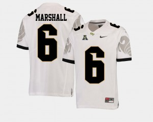For Men College Football White #6 Brandon Marshall University of Central Florida Jersey American Athletic Conference
