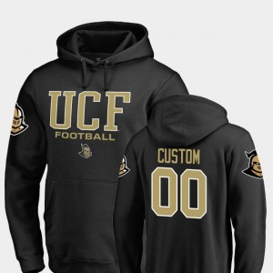 Black Men's #00 Fanatics Branded Football Knights Customized Hoodies True Sport