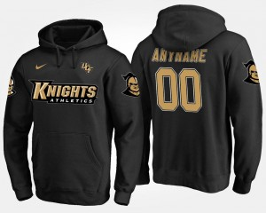 Black University of Central Florida Customized Hoodies Men Name and Number #00