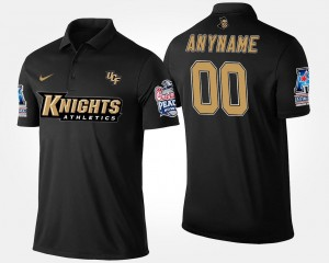 UCF Knights Custom Polo Bowl Game For Men's American Athletic Conference Peach Bowl Name and Number #00 Navy