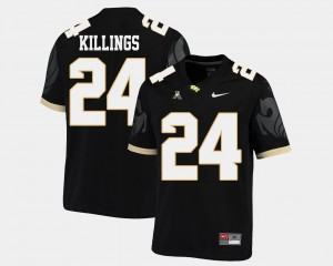Black College Football D.J. Killings UCF Knights Jersey For Men's American Athletic Conference #24