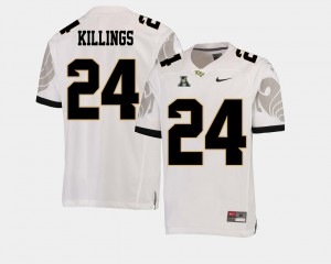 White D.J. Killings University of Central Florida Jersey American Athletic Conference College Football Men's #24