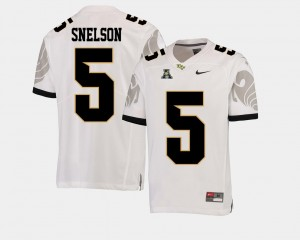 College Football White Dredrick Snelson UCF Knights Jersey American Athletic Conference #5 For Men