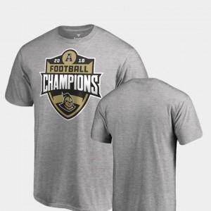 University of Central Florida T-Shirt Mens Fanatics Branded Big & Tall Heather Gray 2018 AAC Football Champions