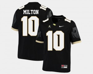College Football Mckenzie Milton University of Central Florida Jersey #10 Black American Athletic Conference Men's