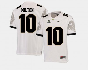 College Football #10 White Mckenzie Milton UCF Jersey American Athletic Conference For Men's