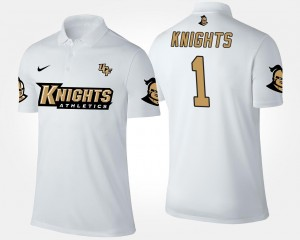 #1 Name and Number Men Knights Polo White No.1 Short Sleeve