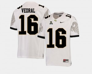 White Noah Vedral UCF Knights Jersey Men's College Football American Athletic Conference #16