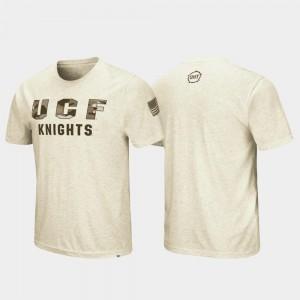OHT Military Appreciation For Men's Desert Camo University of Central Florida T-Shirt Oatmeal