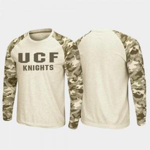 Raglan Long Sleeve Desert Camo OHT Military Appreciation Oatmeal UCF Knights T-Shirt Men's