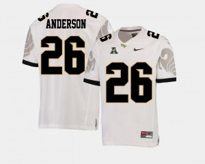 For Men's Otis Anderson UCF Knights Jersey White College Football #26 American Athletic Conference