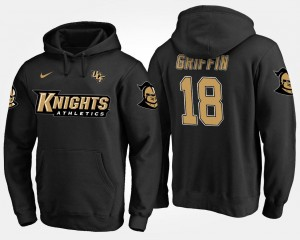 Name and Number Men's #18 Shaquem Griffin UCF Knights Hoodie Black