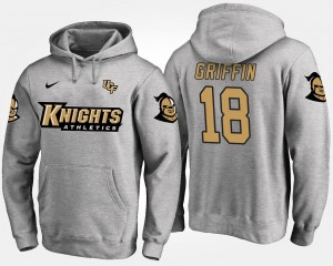 Shaquem Griffin UCF Knights Hoodie #18 Name and Number Gray For Men