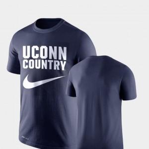 UConn Huskies T-Shirt Legend Franchise Navy Performance Nike Men's
