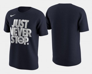 Navy March Madness Selection Sunday Connecticut T-Shirt Basketball Tournament Just Never Stop For Men