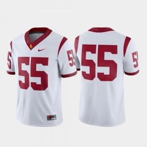 White Men College Football Nike Game #55 Trojans Jersey