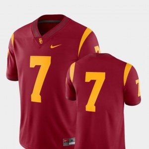 #7 Cardinal 2018 Game Nike College Football USC Jersey For Men's