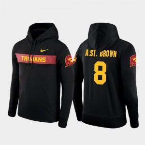 Amon-Ra St. Brown USC Hoodie Nike Football Performance Black #8 Sideline Seismic Men