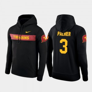 Mens Sideline Seismic Nike Football Performance Black #3 Carson Palmer USC Hoodie