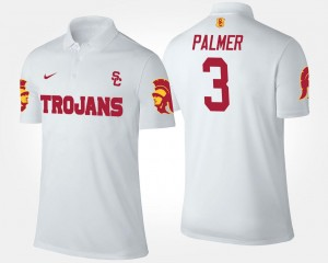 #3 Mens White Carson Palmer USC Polo Name and Number